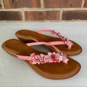 Italian Shoemakers floral flip flop thong sandals